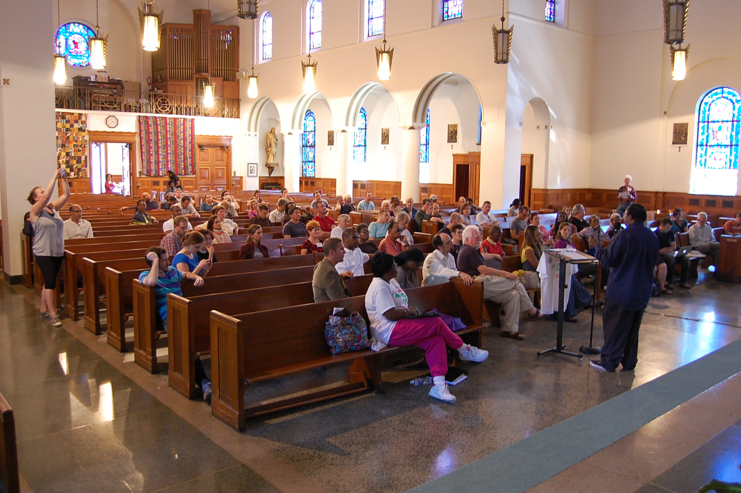 Held in St. Martin's Church on North Capitol Street, the town hall attracted some 100 attendees.