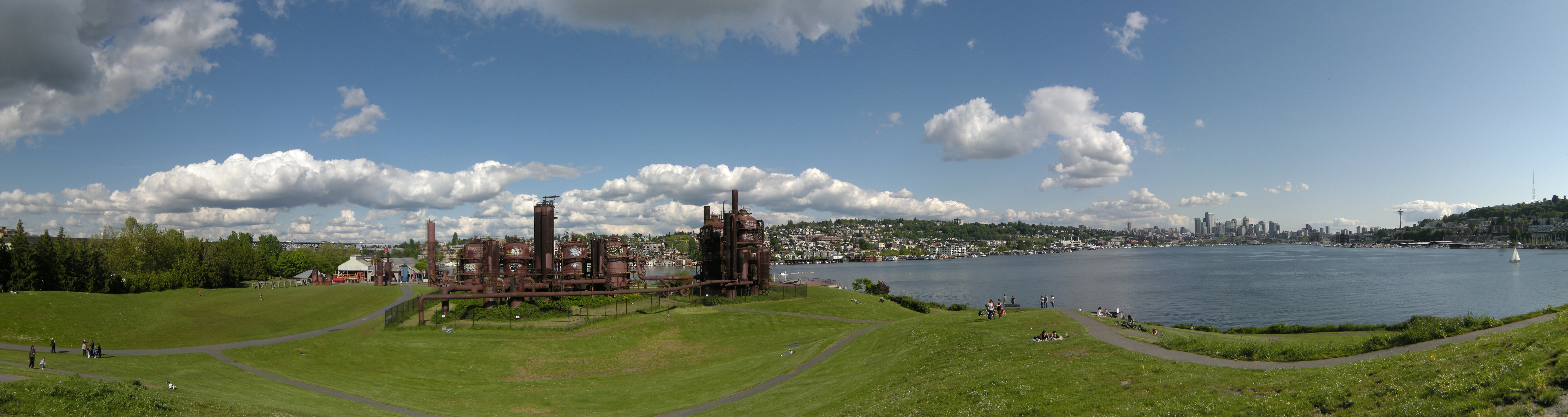 Seattle Gas Works Park, a 20-acre reclaimed industrial space now used as an urban park and once slated for demolition.