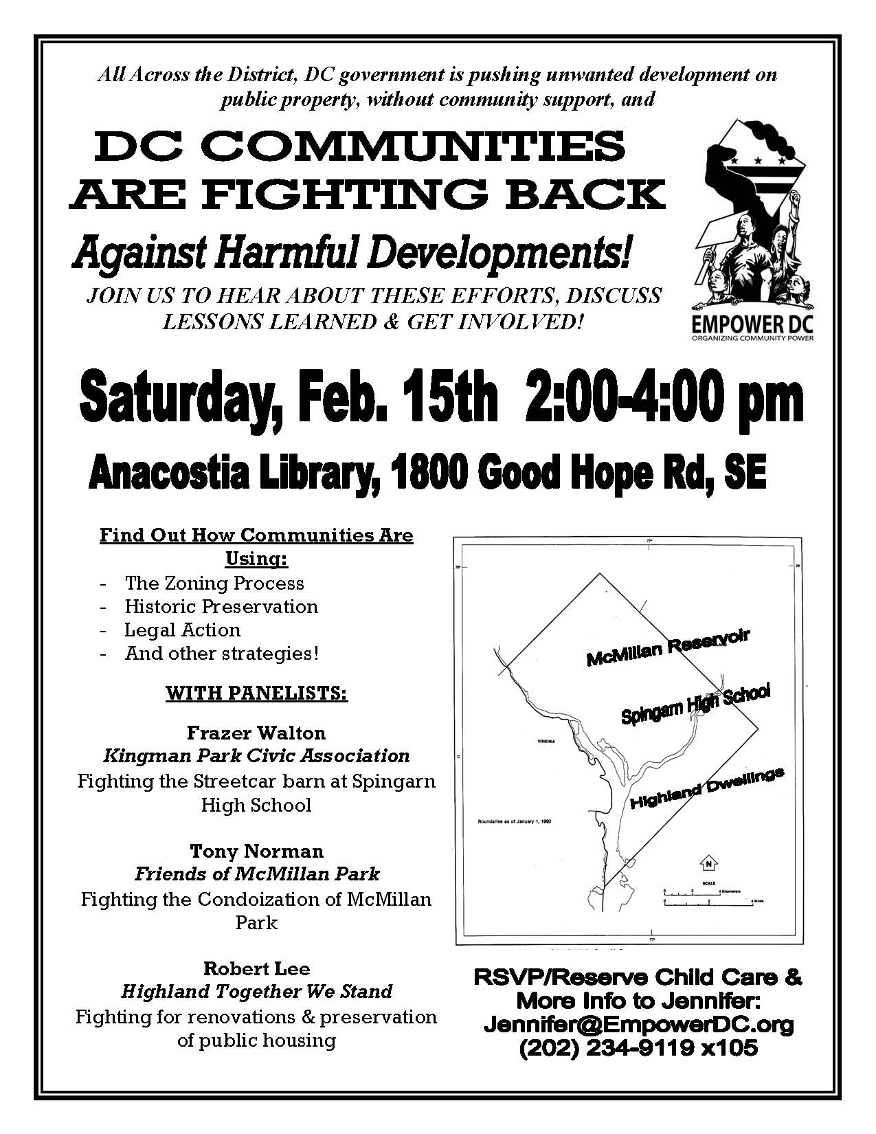 Flier - DC Communities Fighting Back Against Harmful Development - 15 Feb 2014